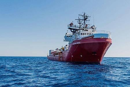 "Das private Rettungsschiff «Ocean Viking"" der Seenotrettungsorganisation SOS Méditerranée auf dem Mittelmeer. Foto: Flavio Gasperini/SOS Mediterranee/dpa"