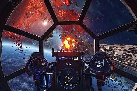 «Star Wars Squadrons» erlebt man im Cockpit aus der Ego-Perspektive. Foto: STAR WARS/Lucasfilm Ltd/Electronic Arts Inc/dpa-tmn