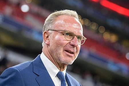 Ist zufrieden mit den neuen TV-Verträgen: Bayern-Boss Karl-Heinz Rummenigge. Foto: Matthias Balk/dpa