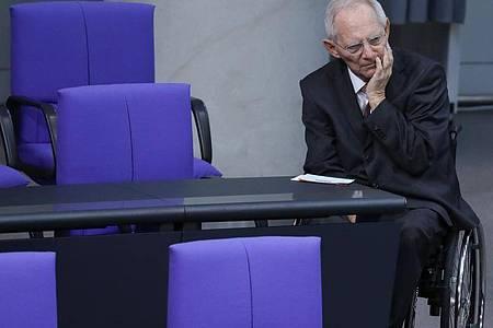 «Es geht hier um die Handlungsfähigkeit des Parlaments und damit um das Vertrauen der Bürger in unsere parlamentarische Demokratie», sagt Wolfgang Schäuble. Foto: Jörg Carstensen/dpa