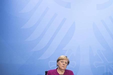 Bundeskanzlerin Angela Merkel hat sich mit den Ländern auf einheitliche Regeln für Corona-Hotspots geeinigt. Foto: Stefanie Loos/AFP POOL/dpa