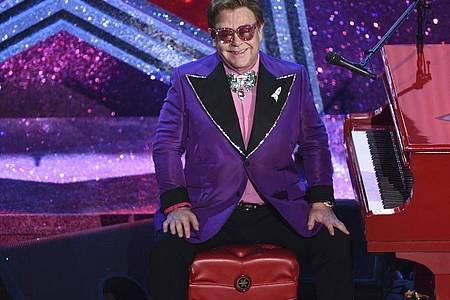Elton John moderierte das «iHeartRadio Living Room Concert for America». Foto: Chris Pizzello/Invision/AP/Archiv/dpa