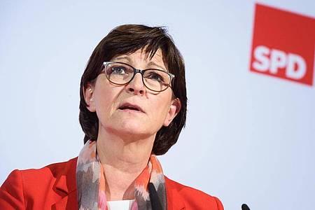 Saskia Esken ist Vorsitzende der SPD. Foto: Gregor Fischer/dpa