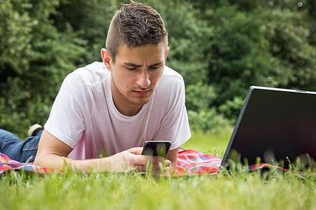 Hiobsbotschaft im Park: Doch glücklicherweise sind die behaupteten Website-Hacks frei erfunden. Foto: Christin Klose/dpa-tmn