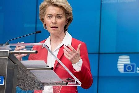 EU-Kommissionschefin Ursula von der Leyen. Foto: Etienne Ansotte/European Commission/dpa