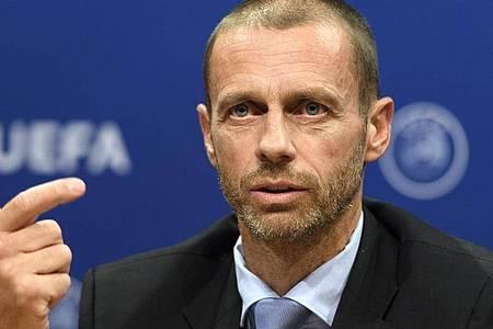 Aleksander Ceferin sieht die UEFA in der Corona-Krise gut aufgestellt. Foto: Laurent Gillieron/KEYSTONE/dpa