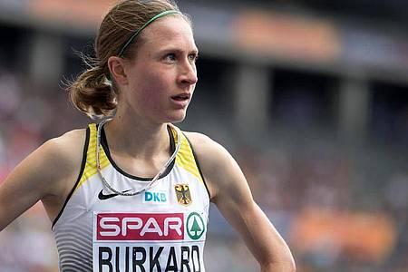 Burkard sich bei den bei den deutschen Meisterschaften der Leichtathleten ihren ersten Titel über 3000 Meter Hindernis gesichert. Foto: Sven Hoppe/dpa