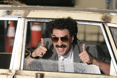 Schauspieler Sacha Baron Cohen in der Rolle des Borat kehrt zurück. Foto: Matt Sayles/SAYLES/AP/dpa