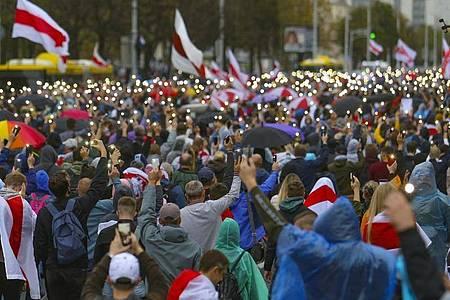 Die Proteste in Belarus dauern seit der Wahl an. Foto: -/TUT.by/dpa