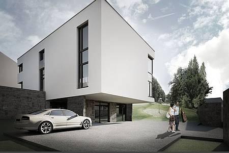 Der Entwurf des Begegnungszentrums in Nordborchen.