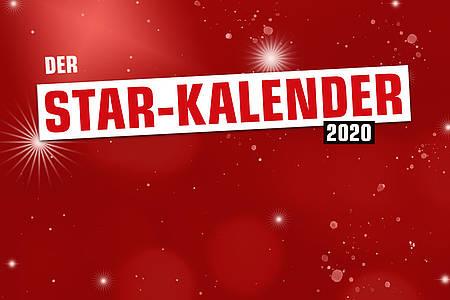 """Überschrift """"Der Star-Kalender"""" auf rotgrundigem Sternenhimmel"""