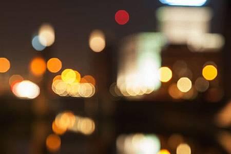 Verschwommene Lichtpunke