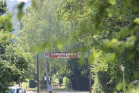 Eingangsbereich des Campingplatz Lügde